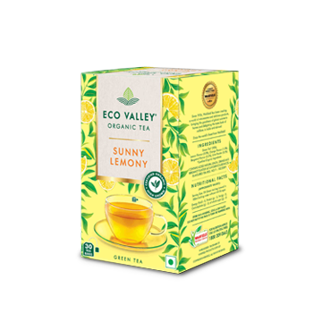 Eco Valley Sunny Lemon Flavour Organic Tea Pack