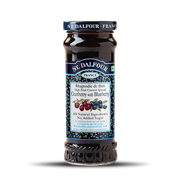 ST DALFOUR Cranberry with Blueberry Fruit Preserve and Spread Bottle