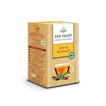 Eco Valley Herbal Infusion Tea - Divya Kawach Pack