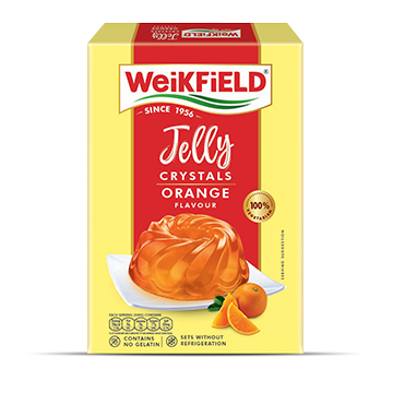 Weikfield Orange Flavour Jelly Crystals pack
