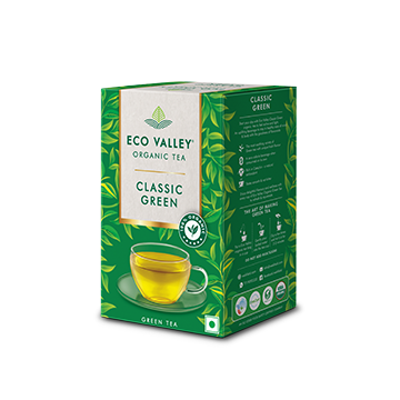 Eco Valley Classic Green Organic Tea pack