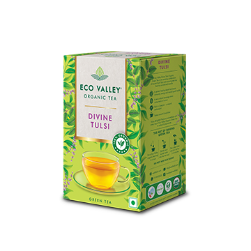 Eco Valley Divine Tulsi Flavour Organic Tea pack