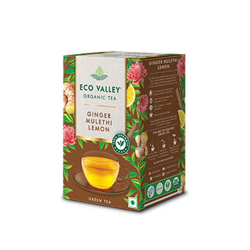 Eco Valley Natural Organic Green Mulerthi Lemon Tea Pack